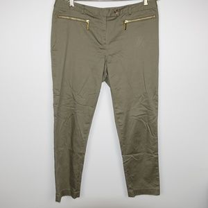 Michael Kors Casual Pants Gold Zipper